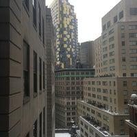 Photo taken at Club Quarters Hotel, Wall Street by Joe O. on 3/9/2013