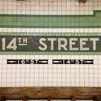 Photo taken at MTA Subway - 14th St (F/L/M) by Rae N. on 11/23/2012