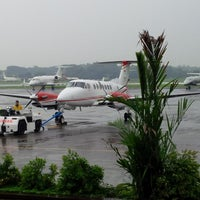 Photo taken at Halim Perdana Kusuma International Airport (HLP) by Elly J. on 7/22/2013