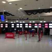 Photo taken at Belfast International Airport (BFS) by Ashley H. on 12/31/2012