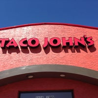 Photo taken at Taco John's by Amy S. on 3/23/2014