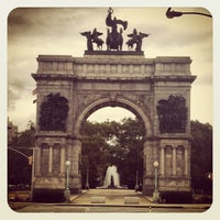 Photo taken at Grand Army Plaza by Brad B. on 9/20/2012