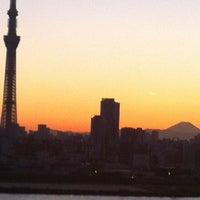 Photo taken at 四つ木橋 by Masaaki K. on 11/16/2012