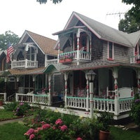 Photo taken at Martha's Vineyard Camp Meeting Association Cottages by Jeff N. on 7/20/2014