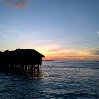 Photo taken at Sheraton Maldives Full Moon Resort & Spa by Peter F. on 12/17/2012
