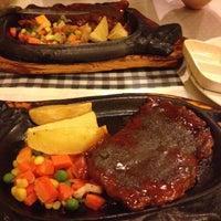 Photo taken at Obonk Steak & Ribs by Linda on 10/18/2012