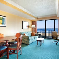 Photo taken at Holiday Inn Express & Suites Va Beach Oceanfront by HotelPORT on 8/6/2013