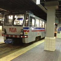 Photo taken at RTA Tower City Rapid Station by Julian K. on 2/9/2013