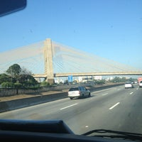 Photo taken at Ponte das Bandeiras by Diego G. on 1/24/2013