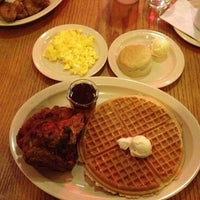 Photo taken at Roscoe's House of Chicken and Waffles by Neala G. on 2/12/2013