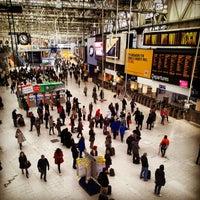 Photo taken at London Waterloo Railway Station (WAT) by Porranai N. on 1/18/2013