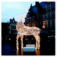 Photo taken at Sint-Veerleplein by Els V. on 12/27/2012