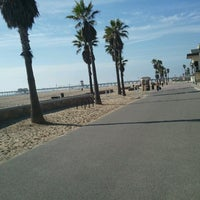 Photo taken at Huntington Beach Bike Trail & Boardwalk by Erin B. on 11/1/2012