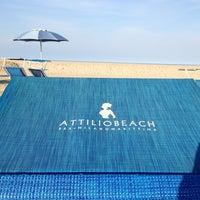 Photo taken at Attilio Beach Pleasure Club by Pier Luca S. on 4/13/2013