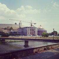 Photo taken at Стаза - Кеј на Вардар by Dejan J. on 7/20/2013
