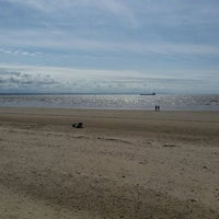 Photo taken at Crosby Beach by Andy W. on 5/9/2015