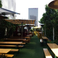 Photo taken at The Biergarten at The Standard, Downtown LA by David B. on 7/27/2013