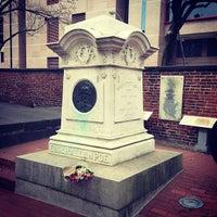 Photo taken at Grave of Edgar Allan Poe by Zachariah H. on 3/24/2013