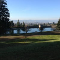 Photo taken at Mt. Tabor Park by Liz M. on 1/17/2013