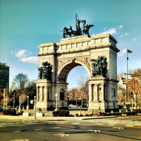Photo taken at Grand Army Plaza by Eric A. on 1/20/2013