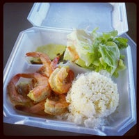 Photo taken at Macky's Shrimp Truck by Aya Y. on 10/31/2012