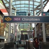 Photo taken at Chinatown MRT Interchange (NE4/DT19) by takakoji on 8/10/2013
