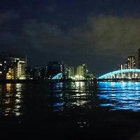 Photo taken at 隅田川テラス 日本IBM本社事業所前 by Ryutaro T. on 11/29/2015