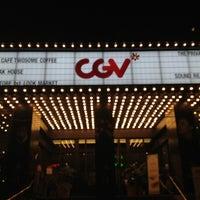 Photo taken at CGV 청담씨네시티 by Sophia H. W. on 9/27/2012