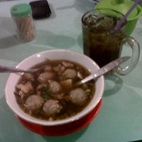 Photo taken at Bakso Amat by Rheinhart M. on 3/5/2013