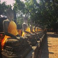 Photo taken at Wat Yaichaimongkol by NioXz C. on 1/17/2013