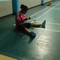 Photo taken at Lapangan Badminton by Meg A. on 11/4/2013