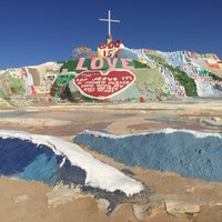 Photo taken at Salvation Mountain by Michael C. on 10/19/2016