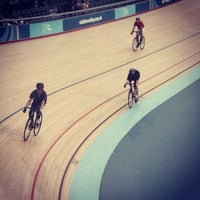 Photo taken at London 2012 Velodrome by Kevin Y. on 4/21/2014