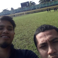 Photo taken at Stadion Lebak Bulus by Nazril F. on 1/11/2014