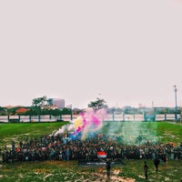 Photo taken at Stadion Persib by Aswin U. on 3/22/2015