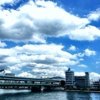 Photo taken at 隅田川テラス 日本IBM本社事業所前 by Hikaru M. on 9/9/2016