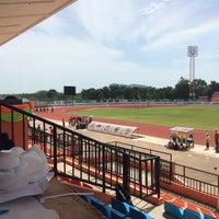 Photo taken at สนามกีฬากลางจังหวัดประจวบคีรีขันธ์ by TETNN T. on 8/23/2016