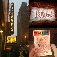 Photo taken at St. James Theatre by Lauren B. on 6/28/2015