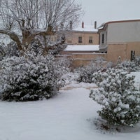 Photo taken at Place Ronde - Montchat by Eric S. on 1/15/2013