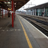 Photo taken at Stockport Railway Station (SPT) by Lance K. on 12/30/2012