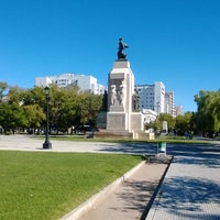 Photo taken at Plaza Rivadavia by Mauro M. on 4/17/2014