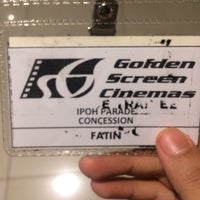 Photo taken at Golden Screen Cinemas (GSC) by Fatin S. on 7/24/2016
