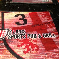 Photo taken at 3 Lions Sports Pub & Grill by Carolyn B. on 5/1/2013
