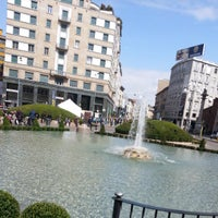 Photo taken at Piazza San Babila by Emilijan S. on 4/7/2013