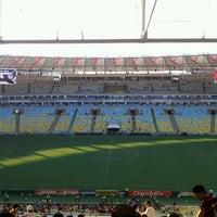 Photo taken at Mário Filho (Maracanã) Stadium by Cesar F. on 1/25/2014