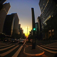 Photo taken at Paulista Avenue by Mônica C. on 7/13/2013