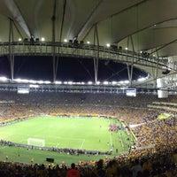 Photo taken at Mário Filho (Maracanã) Stadium by Roberta S. on 7/1/2013