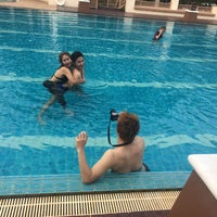 Photo taken at Q House Laddalom Swimming Pool by Nanam on 4/5/2016