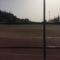 Photo taken at Soccer Field & Running Track ACG-Deree by Konstantinos L. on 4/8/2016