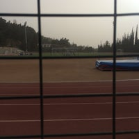 Photo taken at Soccer Field & Running Track ACG-Deree by Konstantinos L. on 3/23/2016